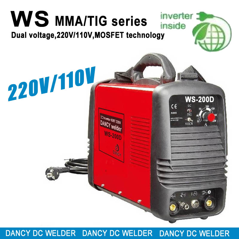 Dual voltage TIG/MMA welder WS-200D