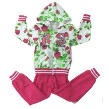Terno de Terry do francês da menina da forma no desgaste do esporte da roupa das crianças (SWG-117)