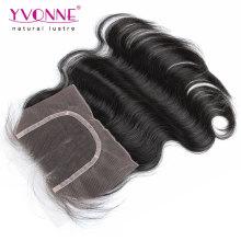 Cheveux humains Lace Top Closure Remy cheveux fermeture