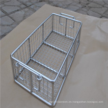 cesta de malla de alambre de fruta de acero inoxidable
