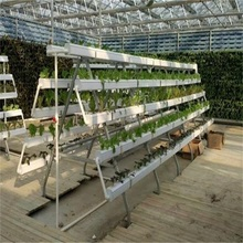 NFT Hydroponics Vegetables Vertical PVC Grow System
