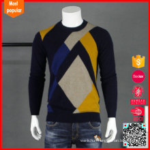 New design long sleeves custom roll neck cashmere man sweater