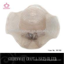 Chapeaux de fête pour les chapeaux de soleil d'été de plage pour femme avec une fleur