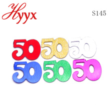 HYYX Wholesale party favor 50th figure birthday confetti