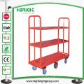 Carrinho de carga para armazéns pesados de seis volumes