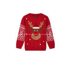 Hässlicher lustiger Rentier-Weihnachtspullover für Mädchen