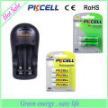 PKCELL brand 2 slot battery charger 8126 for AA AAA 9V battery
