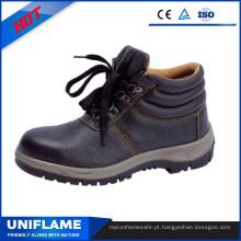Sapatos de segurança S3 de couro em relevo com Ce Ufb006