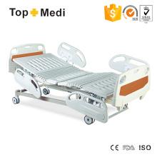 Desmontable Cabeza Pie Junta Cinco Función eléctrica Inclinable Hospital cama