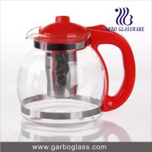 1.6L vaso de té de cristal con mango de plástico (GB1161)