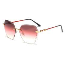 Luxury Fashion Retro ocean lens colorful gradient sunglasses for women