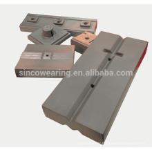 Pièces de concasseur d'impact Barre de soufflage Crang Crano Cr26 Cr20Mo Cr15Mo Manganèse Martensitique - Broyeur à impact sapre pièces