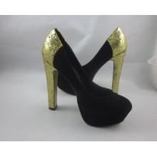 Novo estilo de moda sapatos de salto alto (hcy03-145)