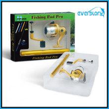Bobina giratória e haste combo set caneta caneta com bobina