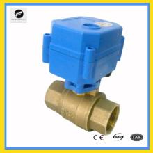 Robinet à tournant sphérique électrique proportionnel 2way / 3way pour le système de contrôle de l'eau