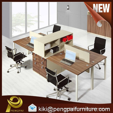 Modern Wooden Office Cubicle Workstation