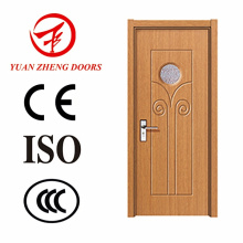 Teak Wood Door Models PVC MDF Door with Good Quality
