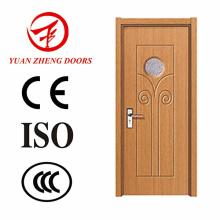 Modelos de porta de madeira de teca Portas MDF de PVC com boa qualidade