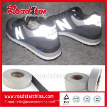 0,8 mm de espesor de cuero reflectante para el material de los zapatos