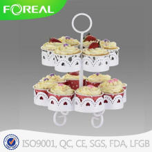 2-níveis 14PCS Cupake Stand / prato de sobremesa