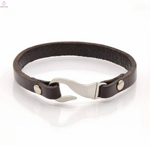 Fishhook Clasp Leather Bracelet Factory Directly Supply