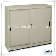 classeur à portes coulissantes en acier / bois