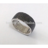 hot sale micro pave men rings with black color