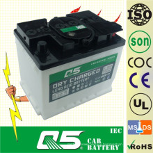 DIN55 12V55AH, Lead-Acid Dry Charged Car Battery