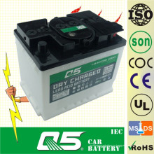 DIN55 12V55AH, свинцово-кислотная сухая заряженная аккумуляторная батарея