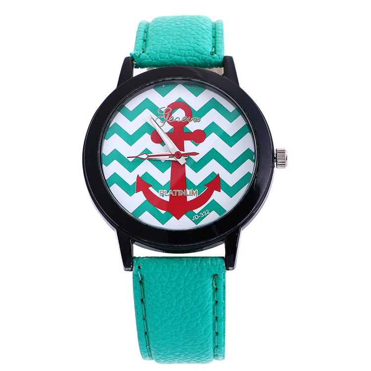 Colorful Geneva Watch Leather Printing Watches