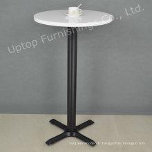 Table de cocktail à cocktails ronds blanc haut de gamme (SP-BT676)