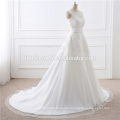 2017 al por mayor de alta calidad del tren blanco del cordón Desmontable Señora Dress Wedding For Bridal