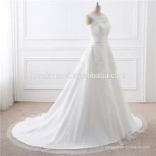 2017 En Gros De Haute Qualité Dentelle Blanche Train Dismountable Lady Dress De Mariage Pour La Mariée