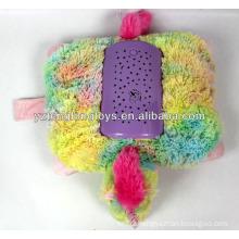 Plush night light stuffed unicorn shaped projection toy stuffed plush toy