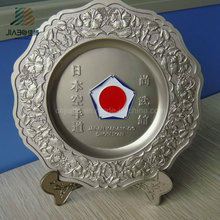 Customize 21cm Japan Karate Logo Katana Metal Souvenir Plate with Gift Box
