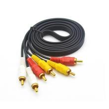Câble audio et vidéo 3RCA à 3RCA