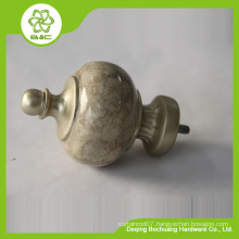 2015 factory direct good sales new design resin curtain finial for rod