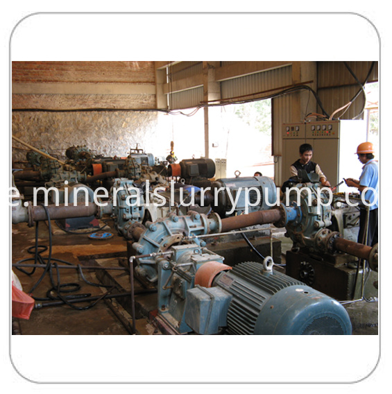 slurry pump application in series