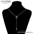 45172 meilleure vente xuping élégant collier en or 18K couleur croix religion élégante collier