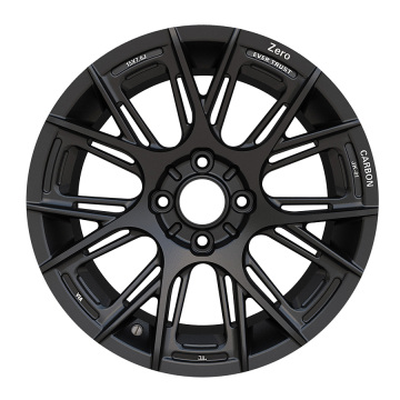 Custom Car Rim 15x7 4X100 Satin Black
