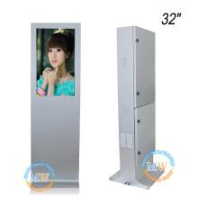 alto brilho 1500 cd / m2 luz solar visível 32 polegada monitor de publicidade ao ar livre à prova d 'água para o quiosque