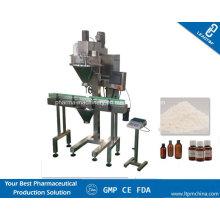 Máquina de enchimento de cabeça única para produtos secos