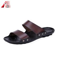 Sandálias dos homens feitos sob encomenda macios macios do logotipo