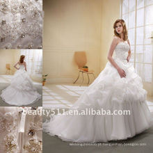 Astergarden estilo novo estilo beading A-line Flower Veils como presente Noblest Bridal Gown weeding vestido MA-001