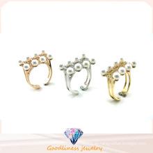 2015 Anillo de plata de la perla de la más nueva joyería 925 de la manera del diseño (R10383)