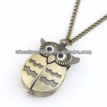 2013 Wholesale Owl Design Antique Brass Skeleton Sweater Chain10092276