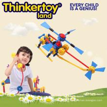 DIY Самолет модели образования Строительство Блок игрушки для детей
