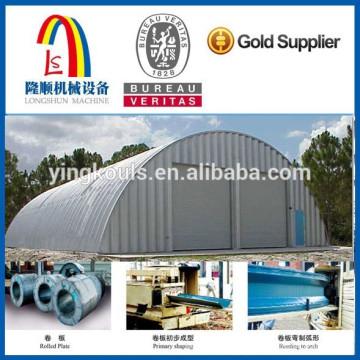 Longshun 610 Arch Structure Криволинейная стальная кровельная машина / Криволинейная стальная крыша