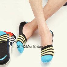 Homens algodão tornozelo baixo corta sem meias invisíveis Show