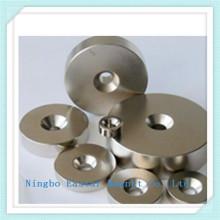 Неодимовый магнит постоянный кольцо с никелевым покрытием